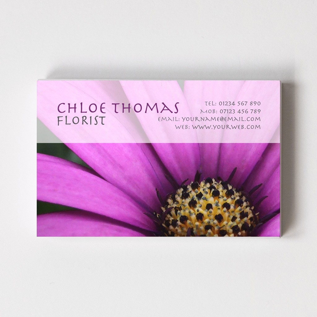 Florist/Gardener Templated Business Card 4