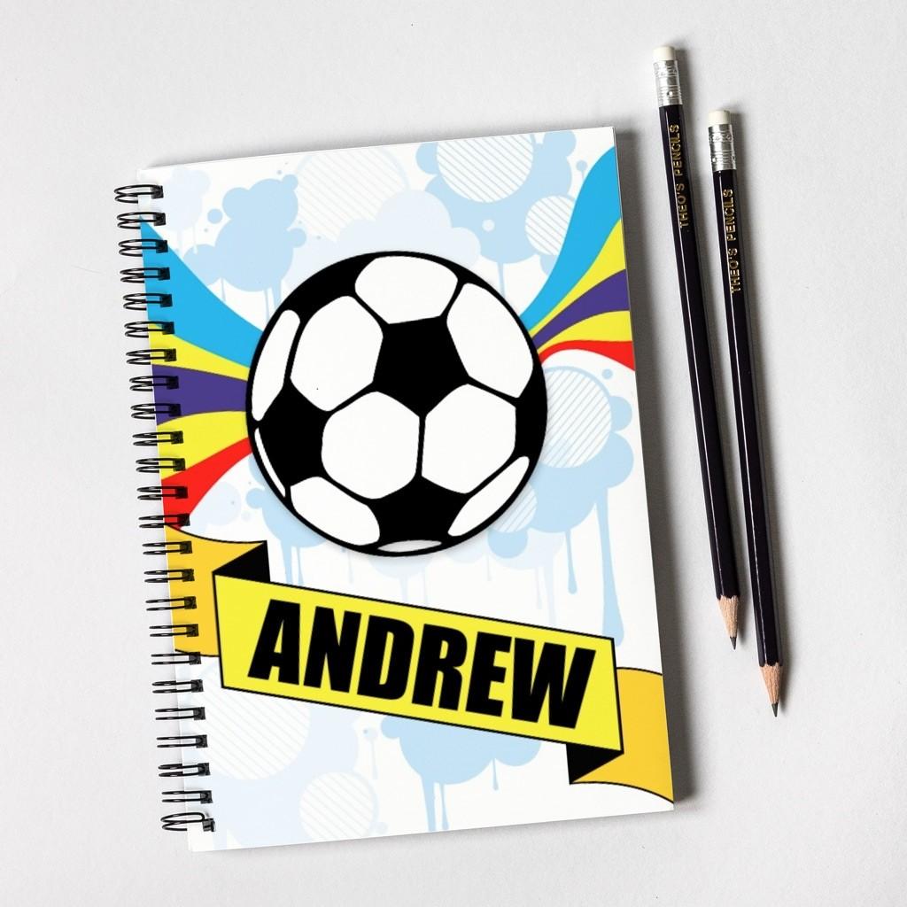 Football Notebook & Pencil Gift Set