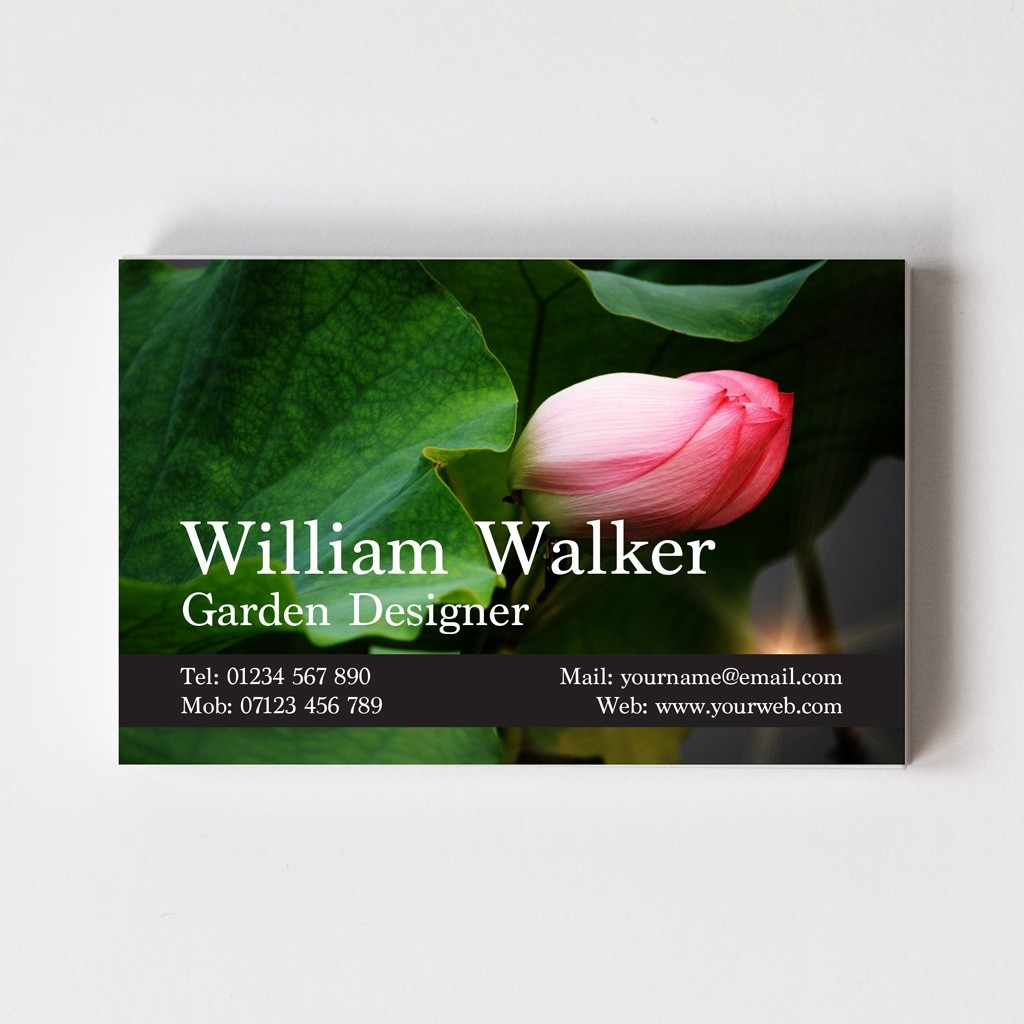 Templated Business Card Florist/Gardener 1