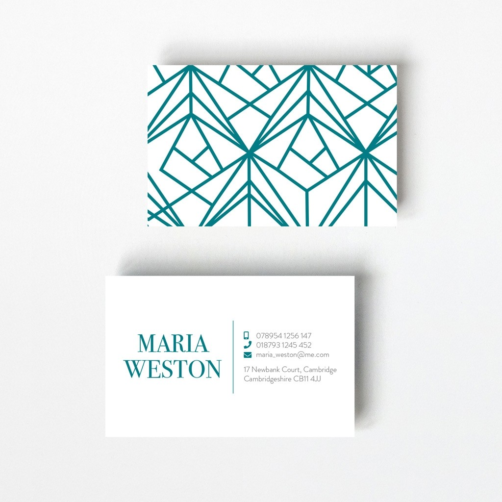 Geometric Design Business Card