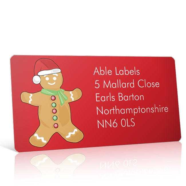 Christmas A4 Sheet Labels - Ginger Bread Man