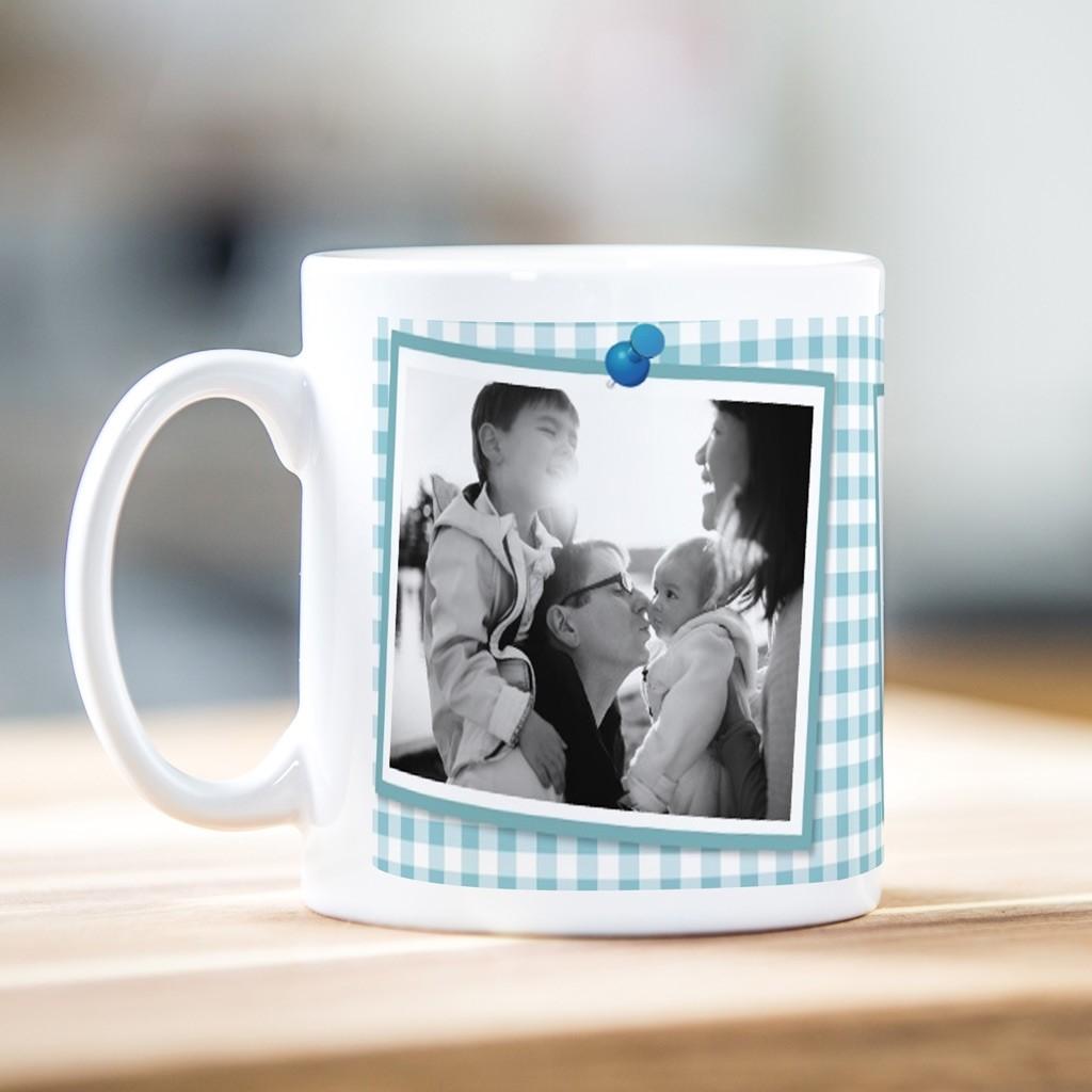 Gingham Photo Mug