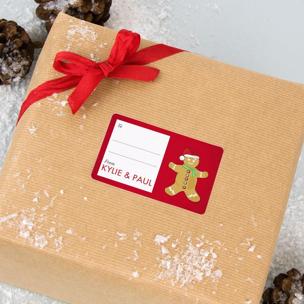 Gingerbread Man Gift Labels