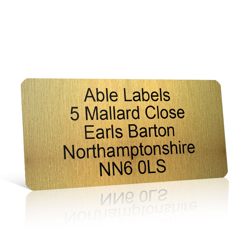 Gold Address Label on A4 Sheets