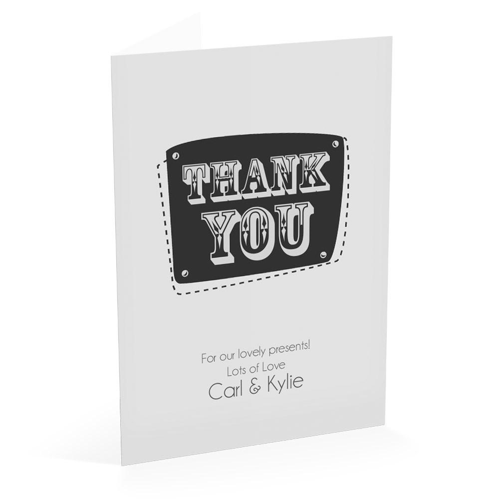 Grey - Thank You Card