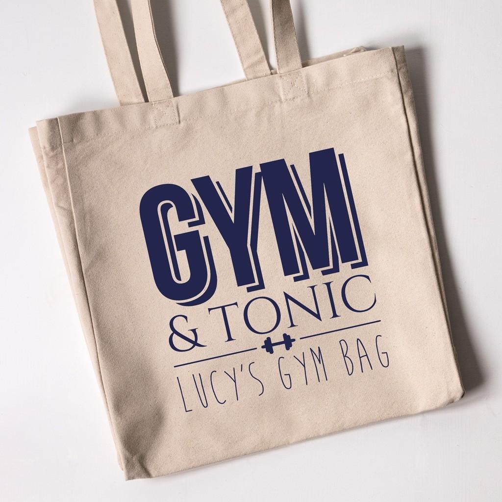 Personalised Tote Bag - Gym & Tonic