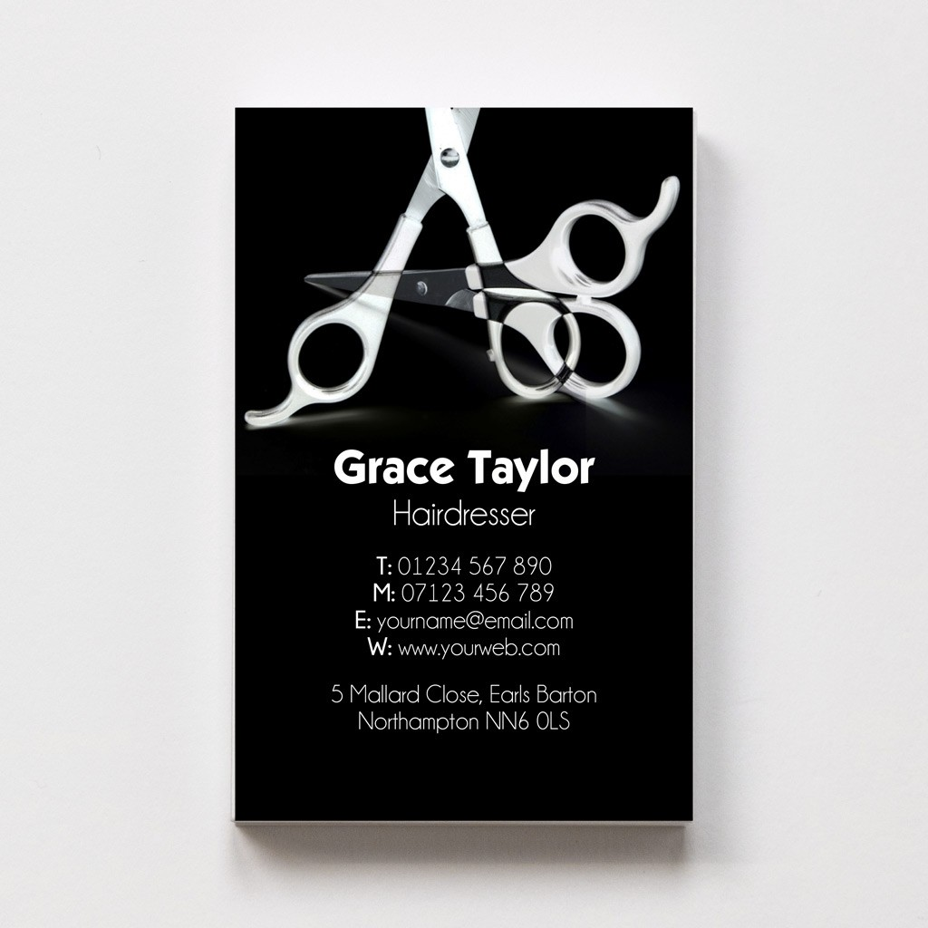 Templated Business Card Hairdresser 1
