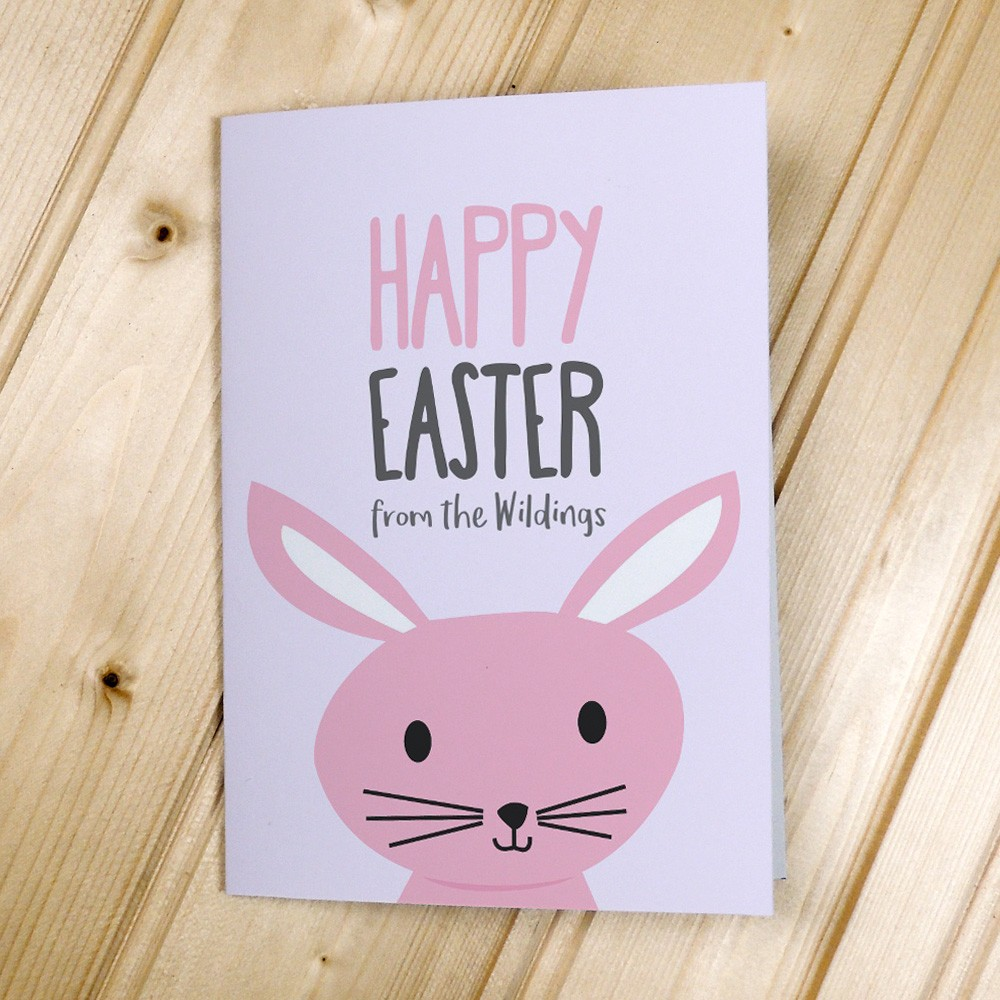 Pink Rabbit Easter Cards
