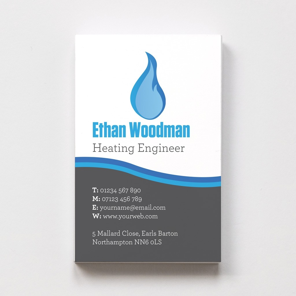 Templated Business Card Plumber 3