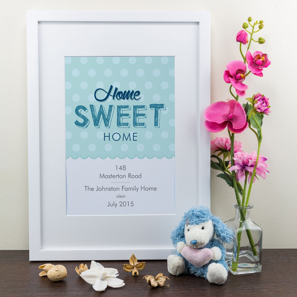 Home Sweet Home - Personalised Art Print