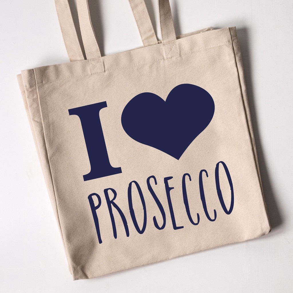 "Personalised Tote Bag - I Love ""Prosecco"""