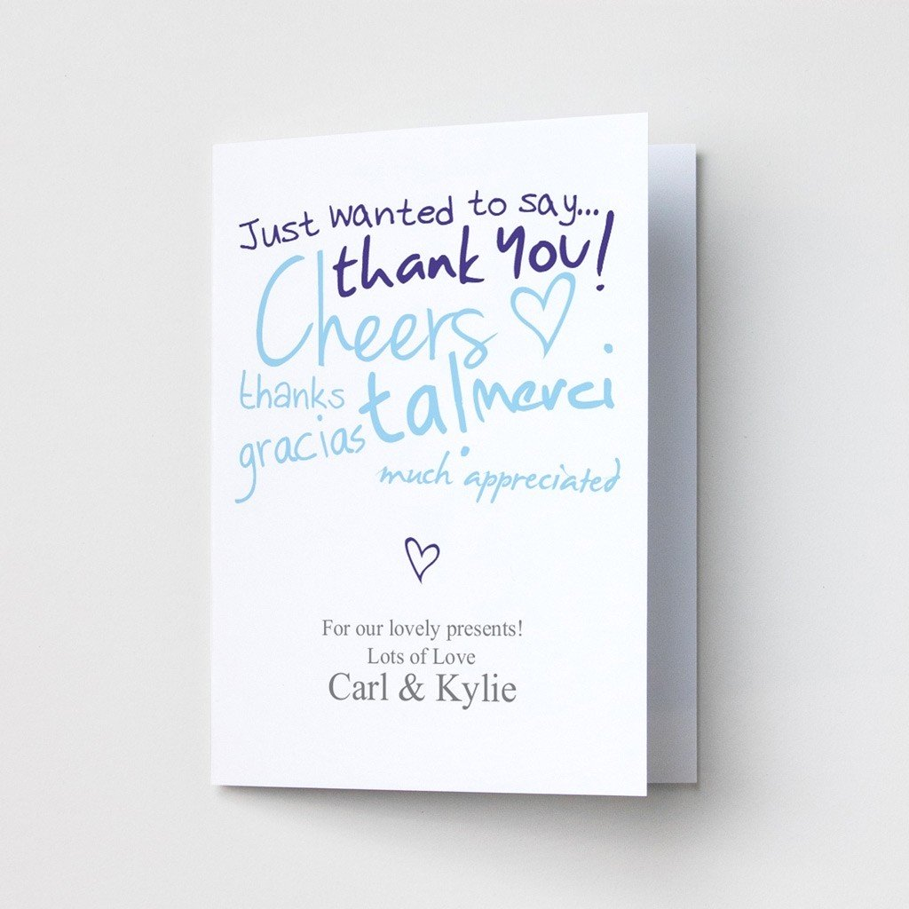 Thanks - Thank You Card