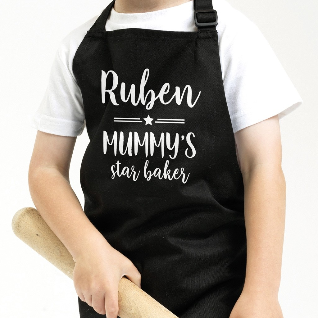 Personalised Kids Apron - Star & Lines