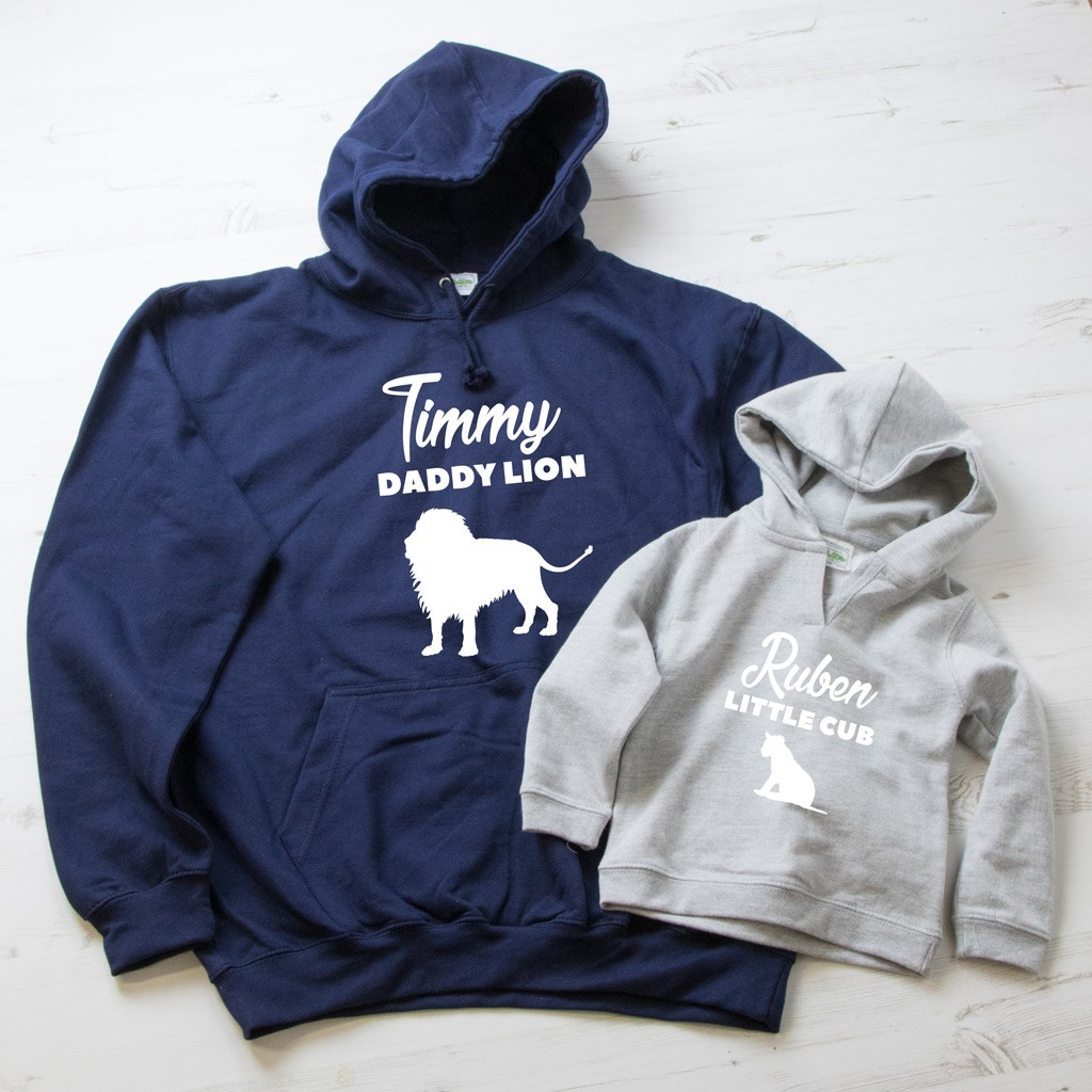 Daddy Lion & Little Cub Hoodie Set