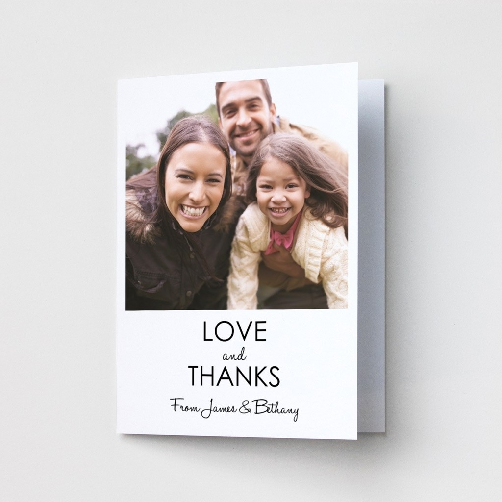 Love & Thanks Photo Thank You Card