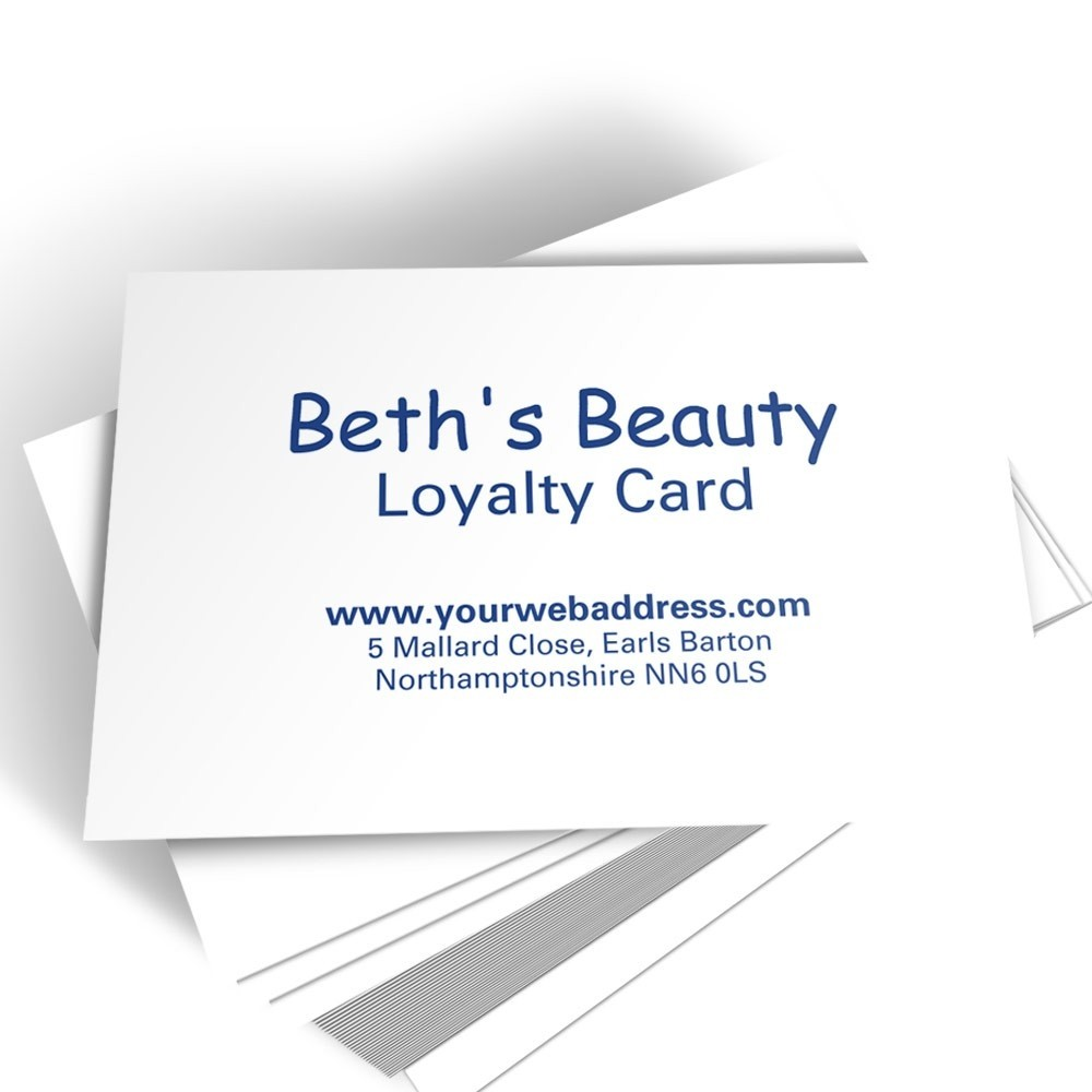 Text Only Loyalty Card