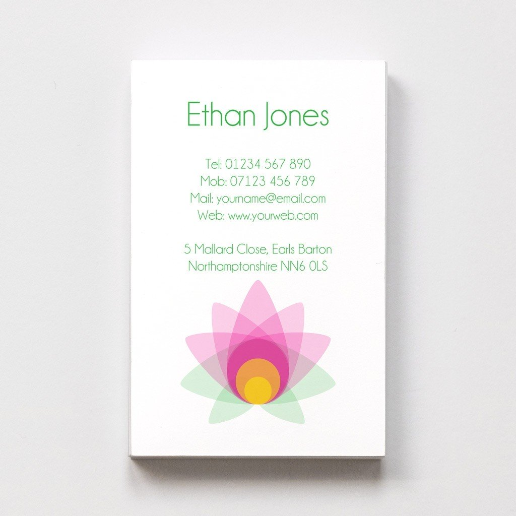 Templated Business Card Yoga/Fitness 1