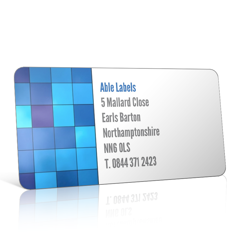 Pre Designed Blue Squares Address Label on A4 Sheets