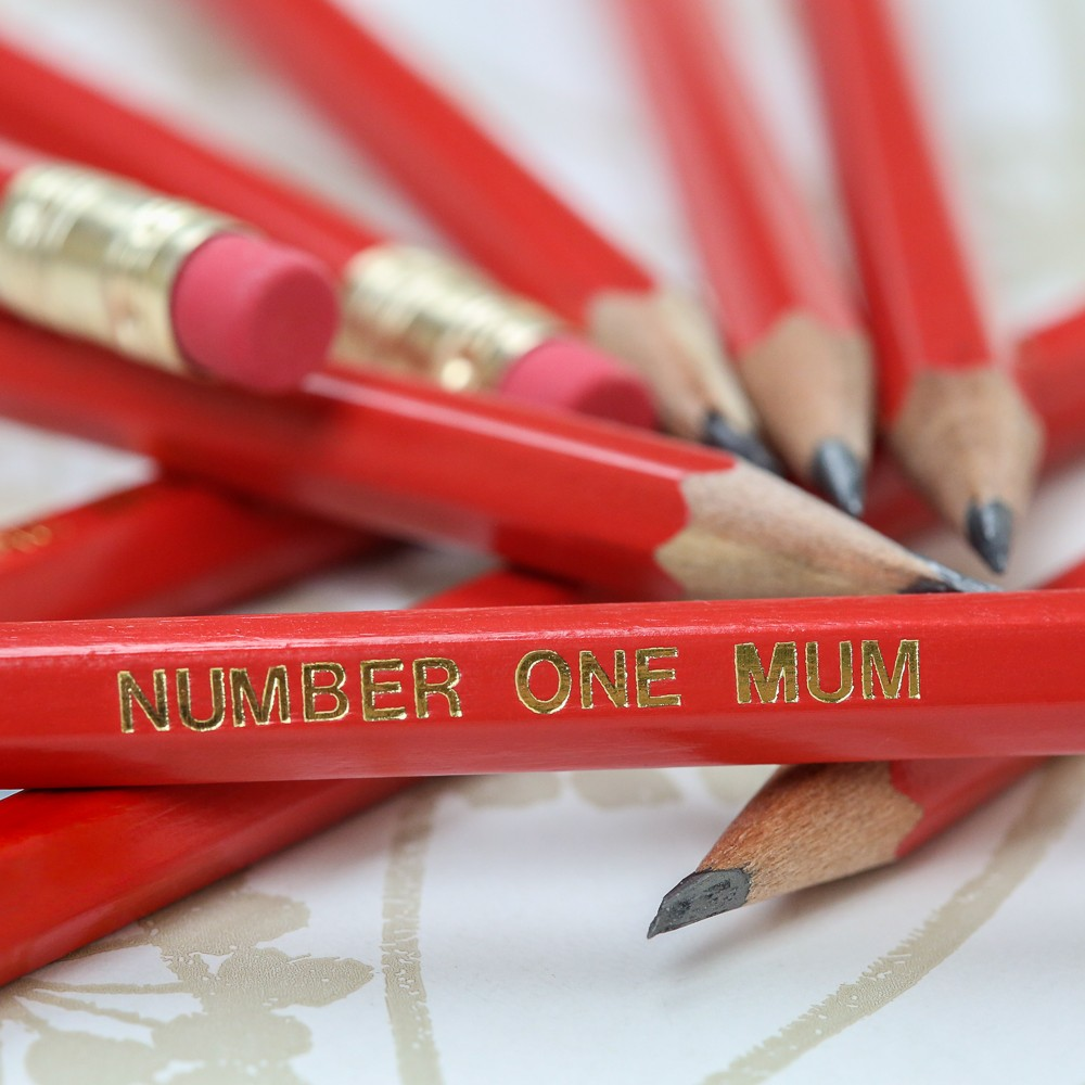 Mother's Day Red Graphite Pencils