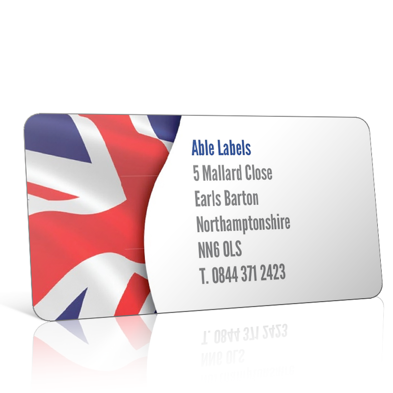 Pre Designed Union Jack Flag Address Label on A4 Sheets