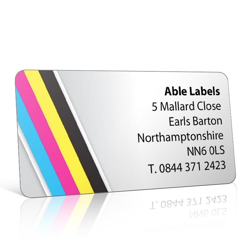 Pre Designed Colour Stripes Address Label on A4 Sheets