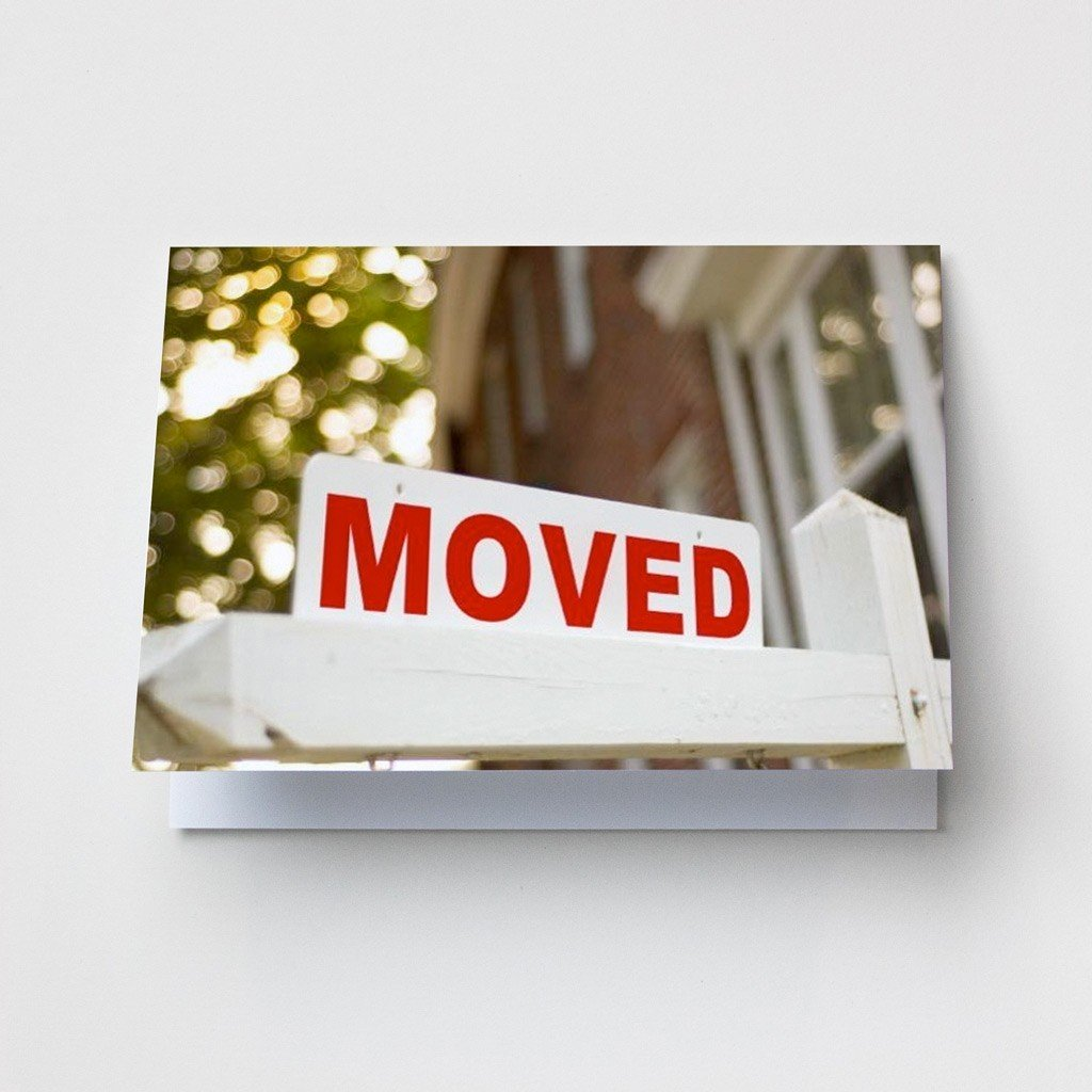 Moved Sign - Change of Address Cards