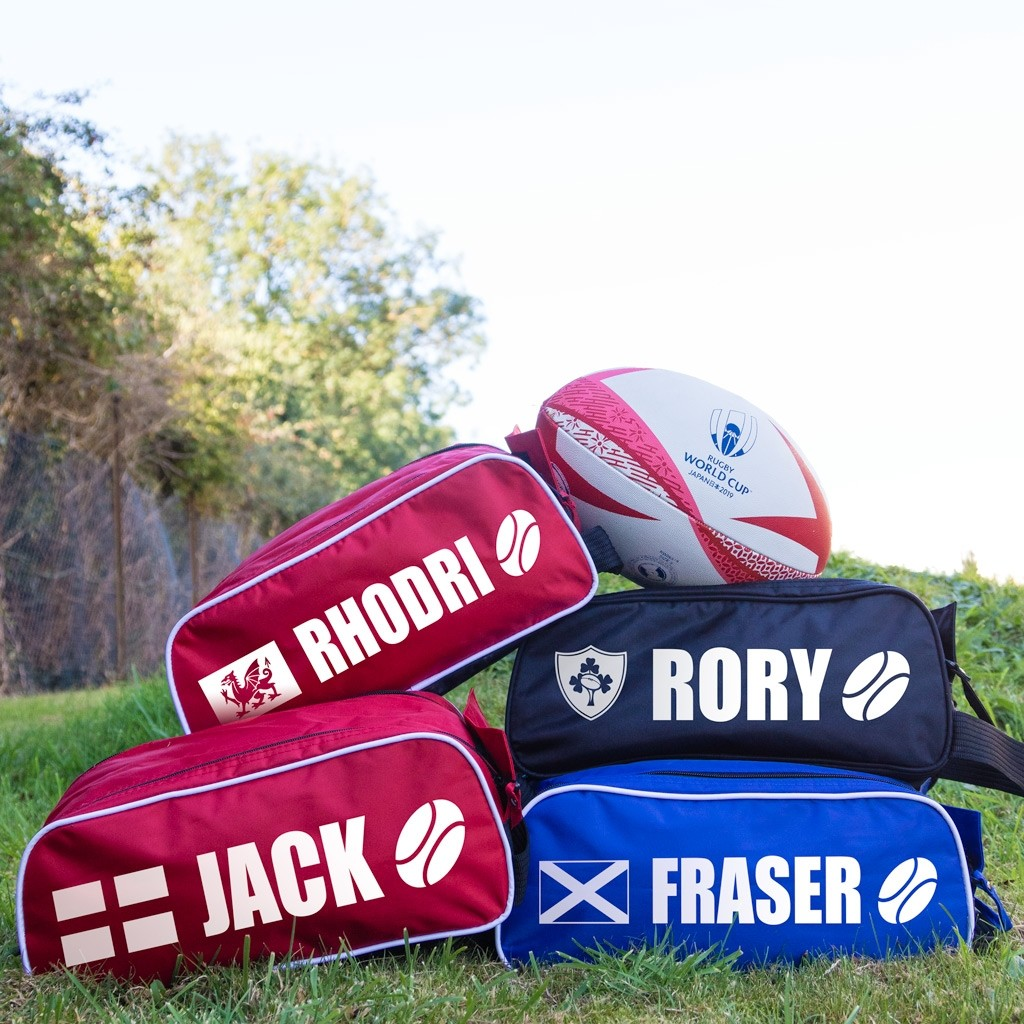 Personalised Rugby Boot Bags