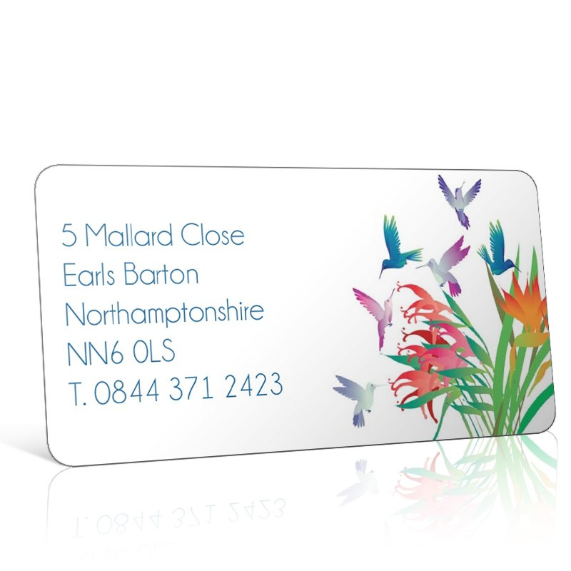 Pre Designed Flowers & Birds Address Label on A4 Sheets