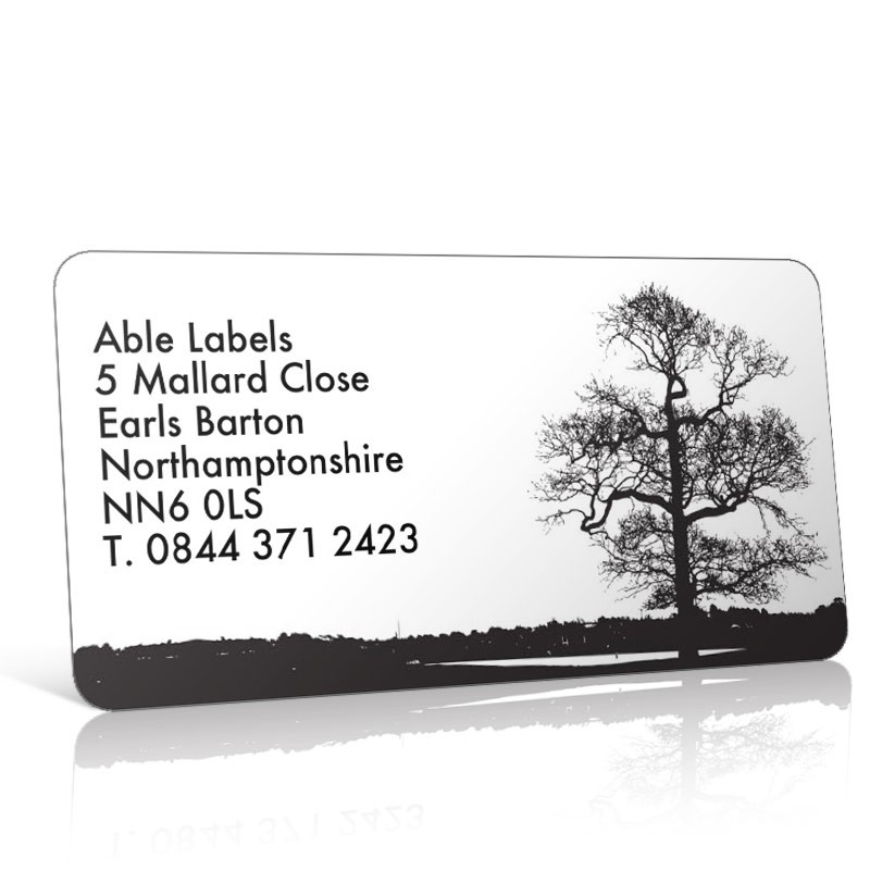 Pre Designed Tree Silhouette Address Label on A4 Sheets