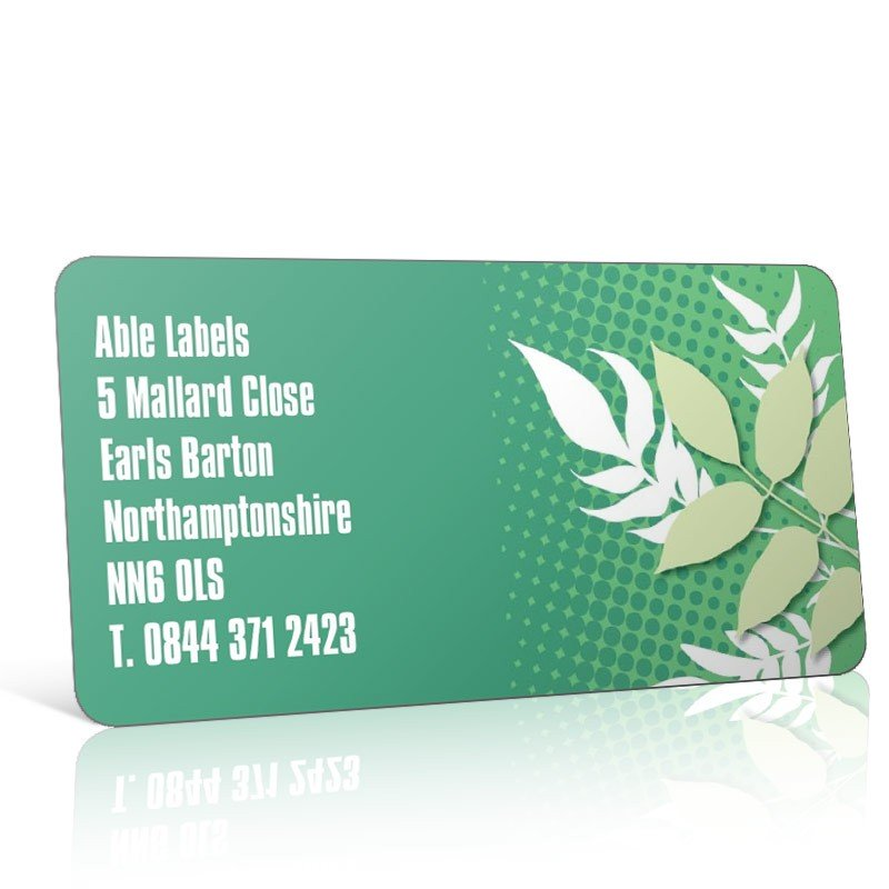 Pre Designed Leaves Address Label on A4 Sheets