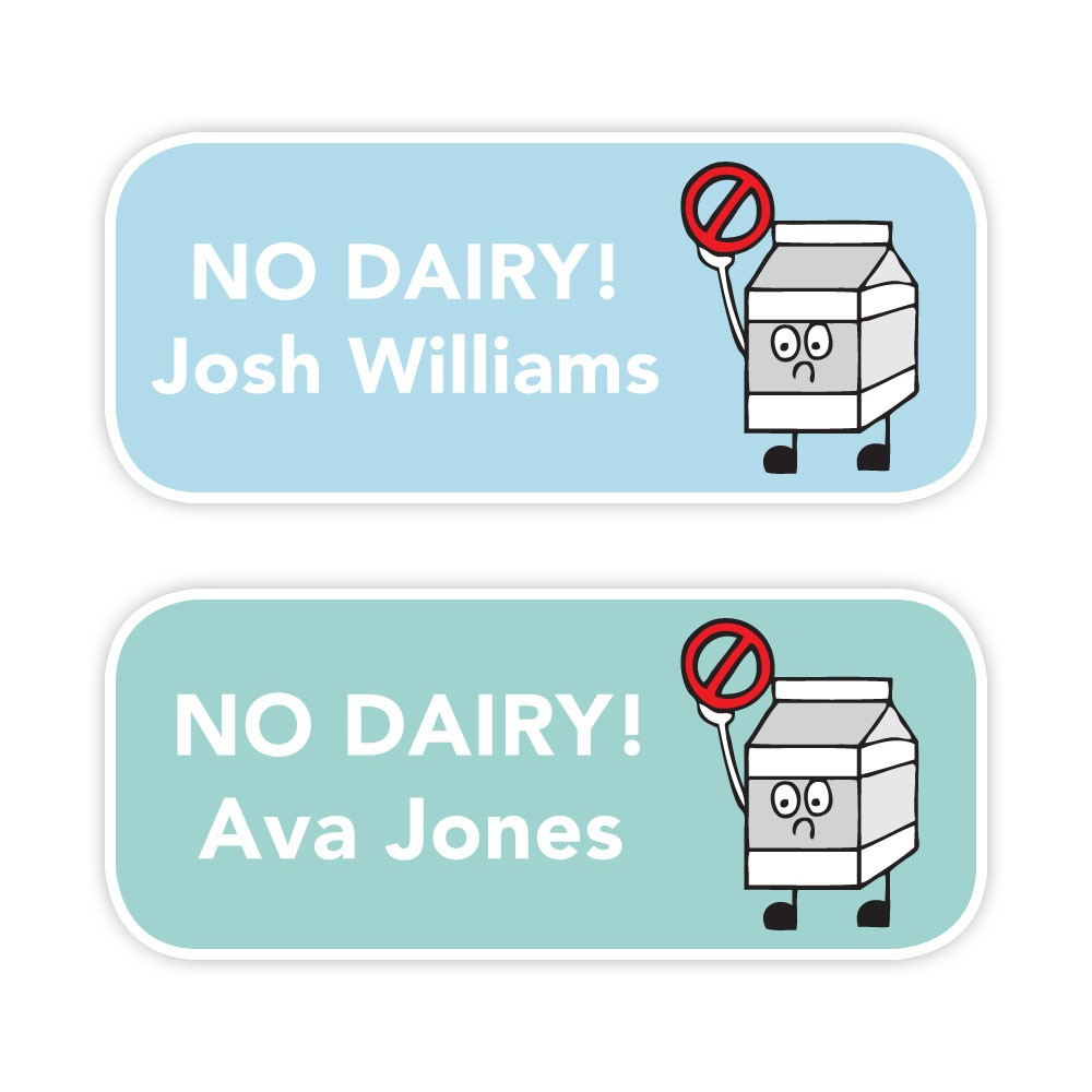 No Dairy - Allergy Labels - Style 1