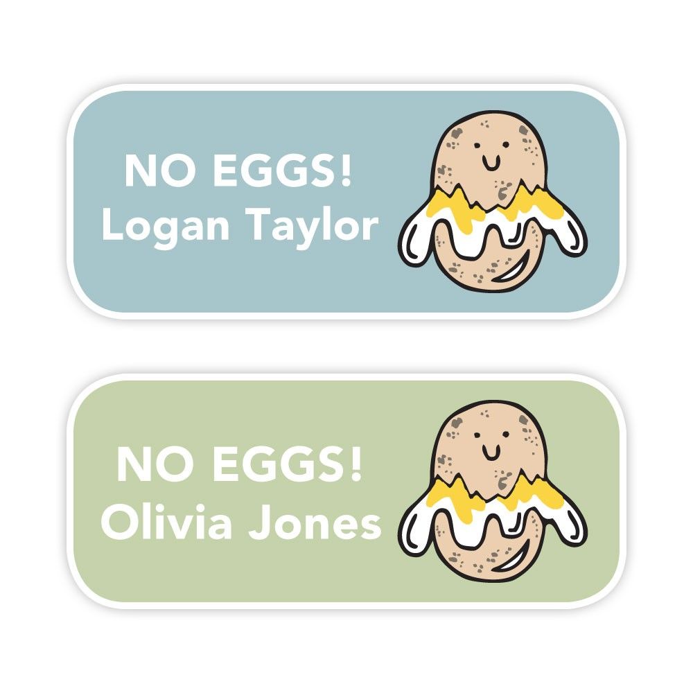 No Eggs - Allergy Labels - Style 2