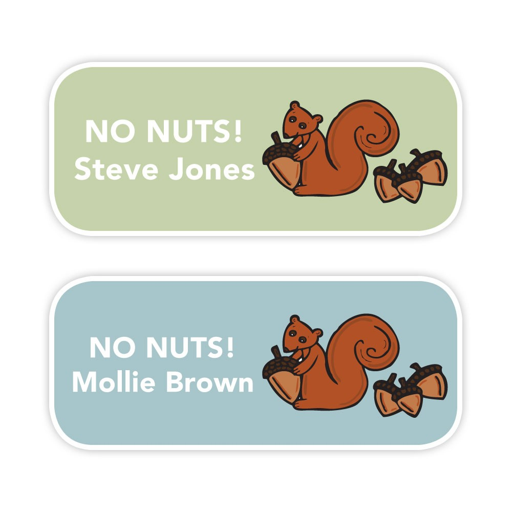 No Nuts - Allergy Labels - Style 2