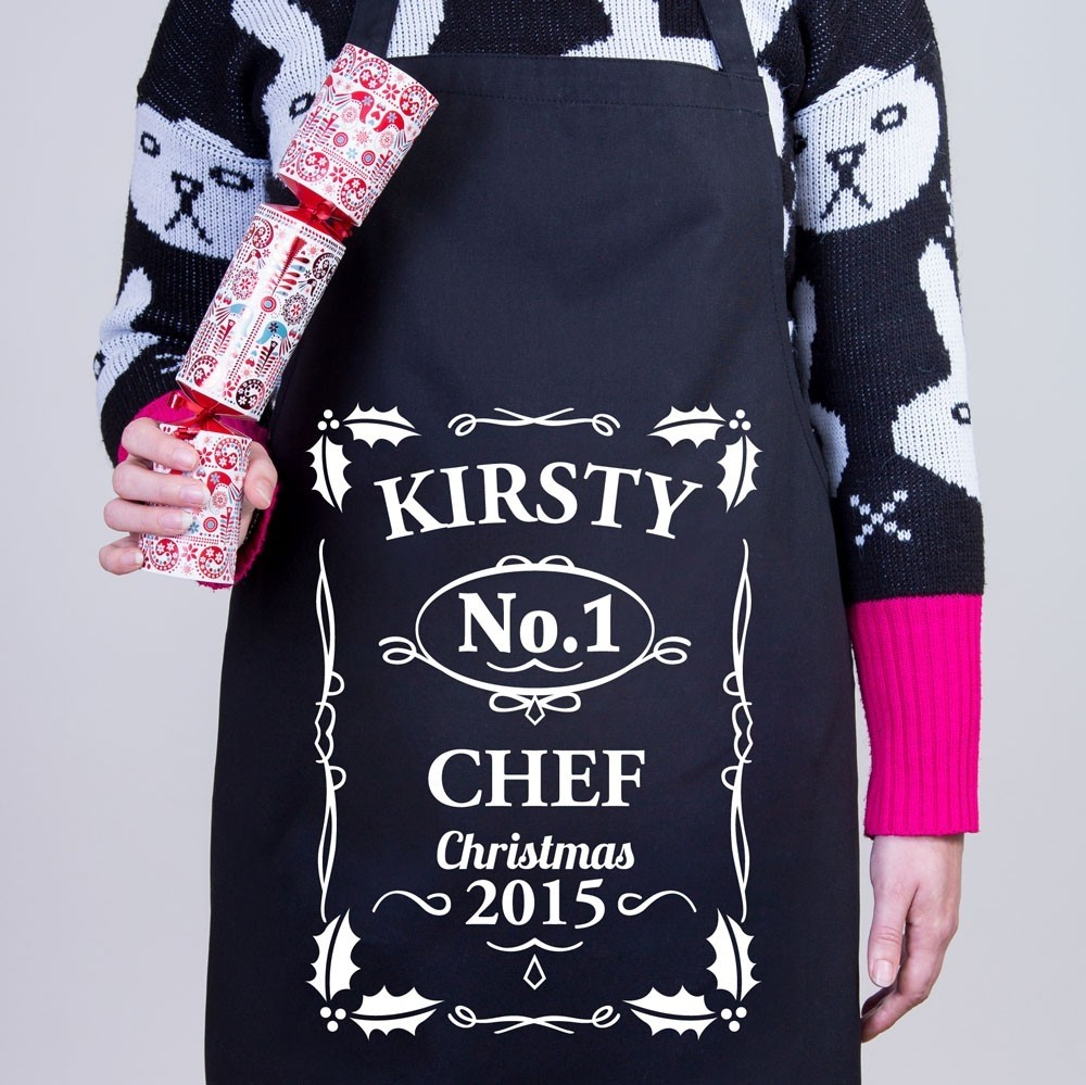 Christmas Personalised Apron - No.1 Christmas Chef