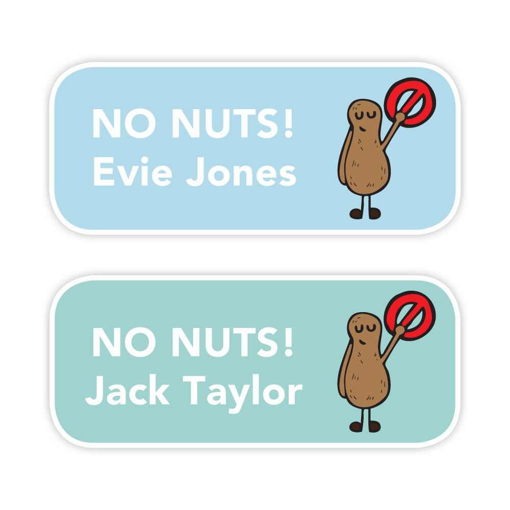 No Nuts - Allergy Labels - Style 1