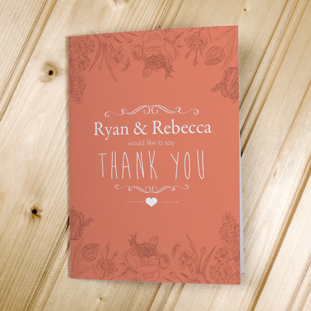 Floral Anniversary - Thank You Cards