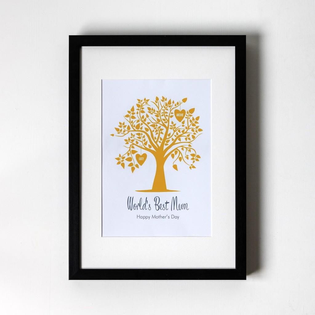 Orange Family Tree - Personalised Art Print