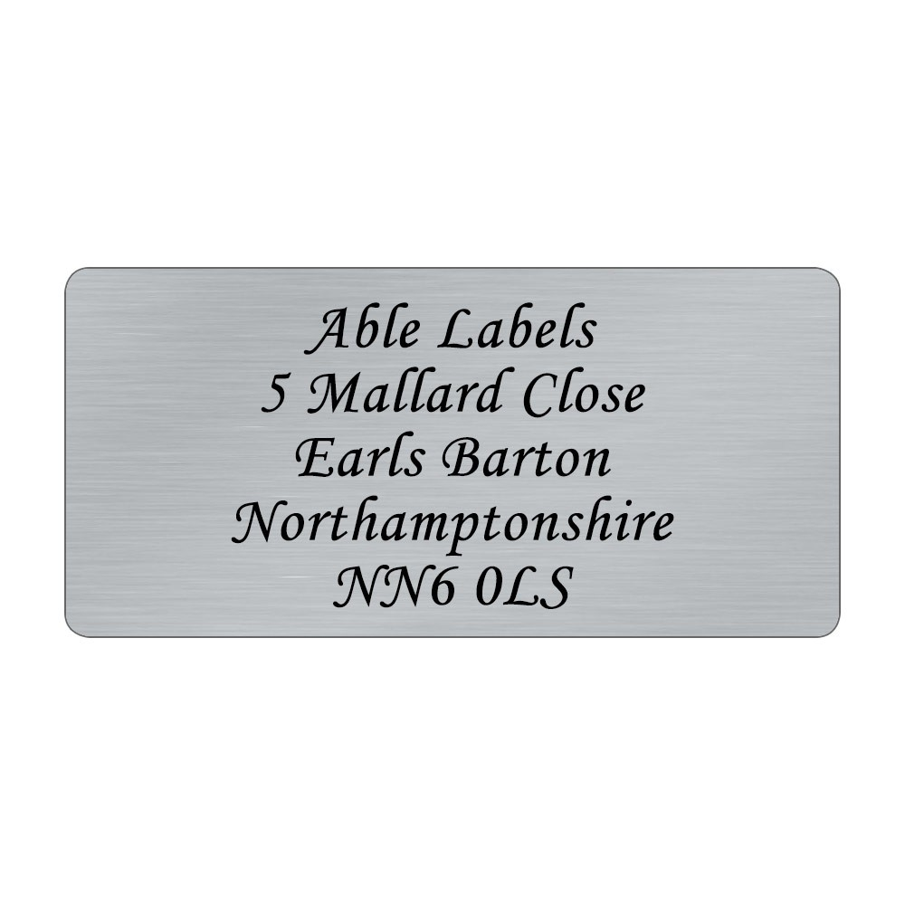 Silver Original Cut Address Labels
