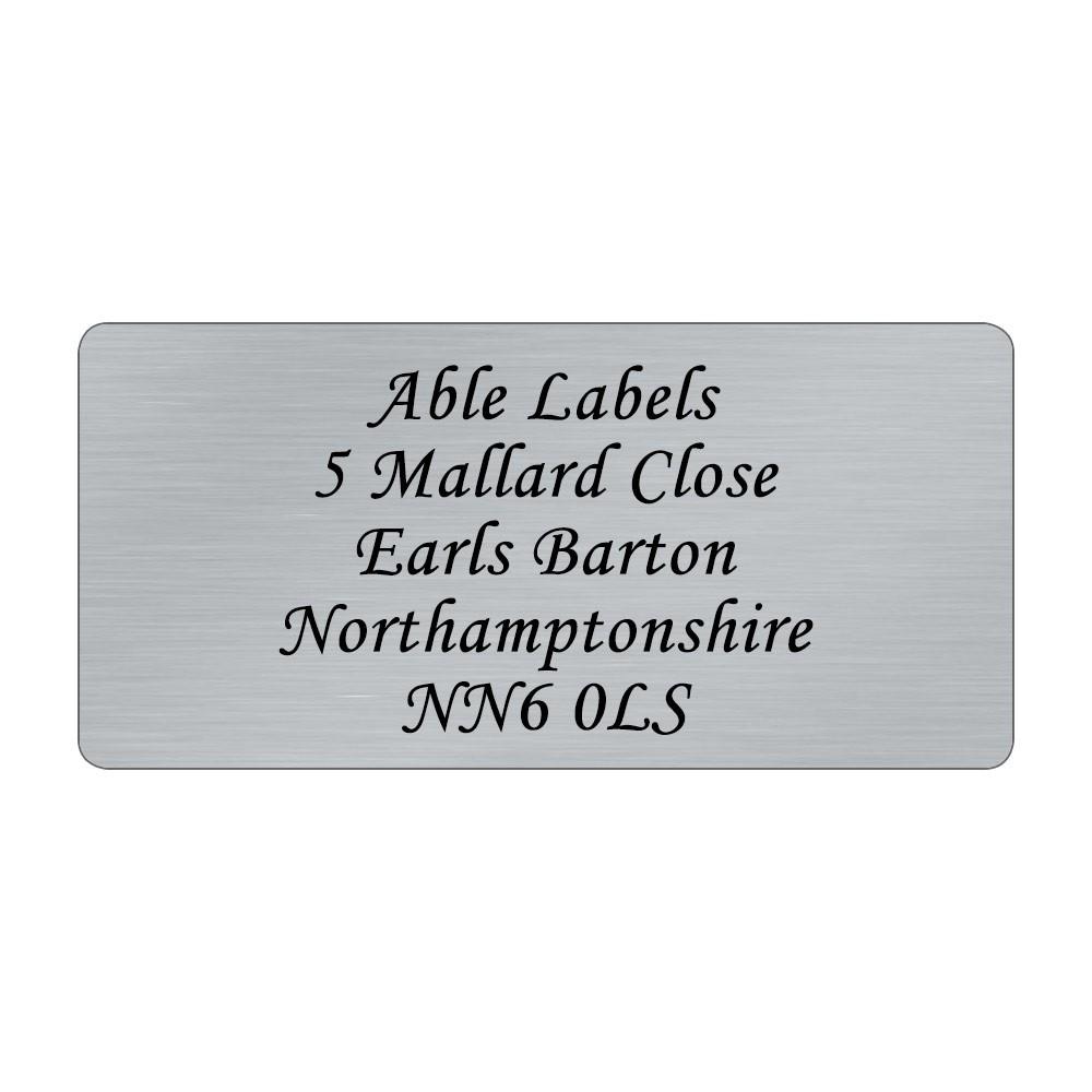 Silver Original Cut Labels