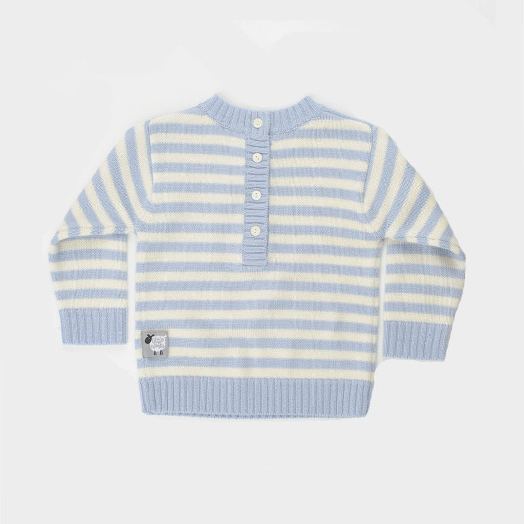 4d75ec4dbdace1 Little Nitwits - Luxury Merino Wool Stripy Round Neck Jumper - Able ...