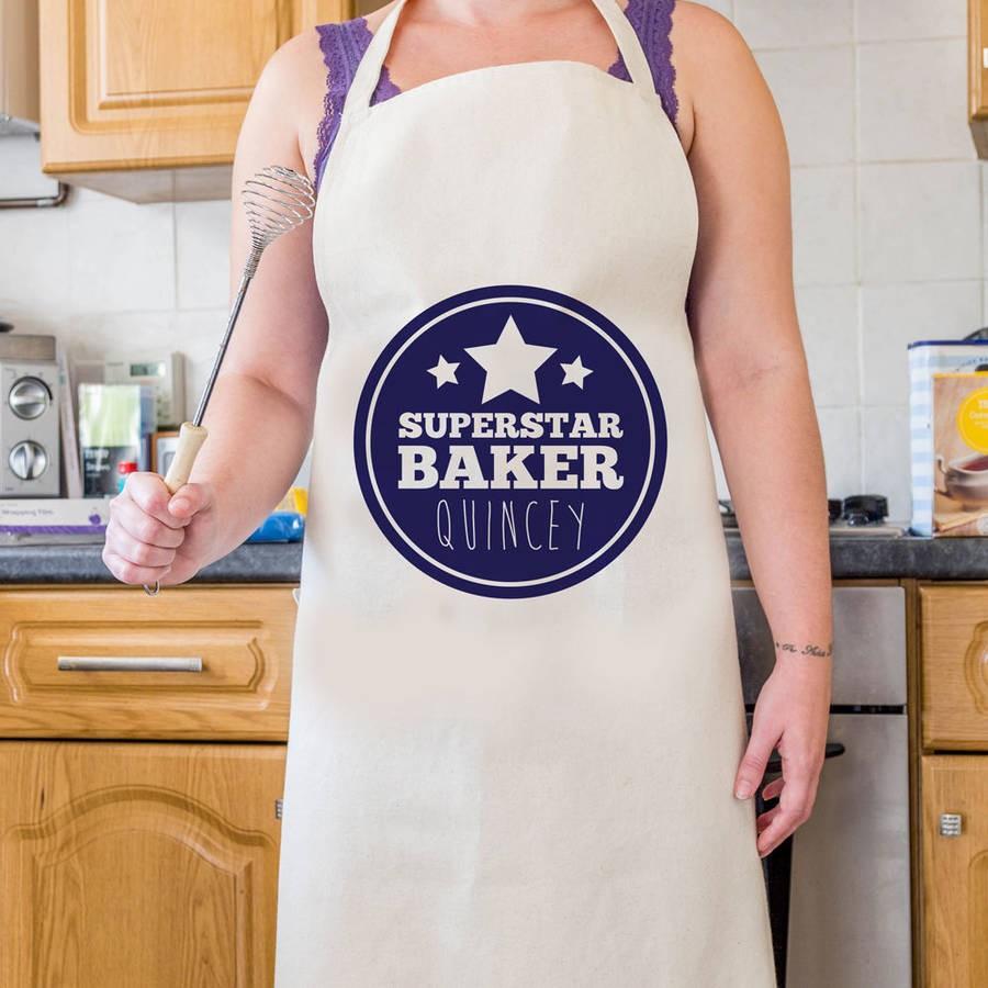 Personalised Superstar Baker Apron