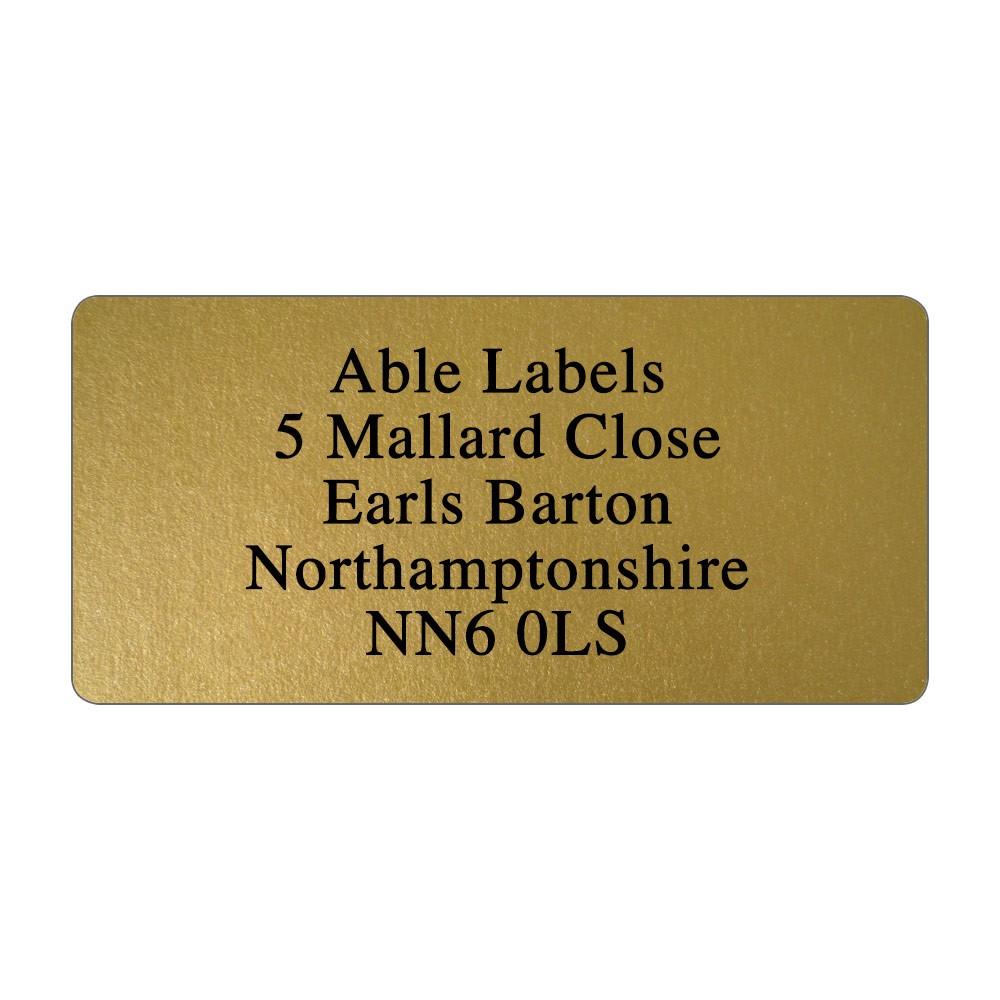 Gold Original Cut Address Labels
