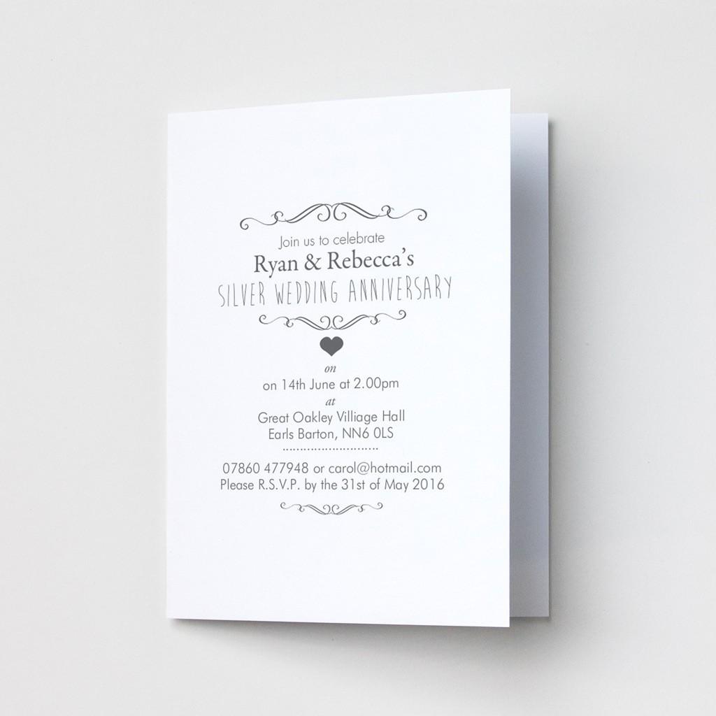 Ornate Anniversary - Party Invitations