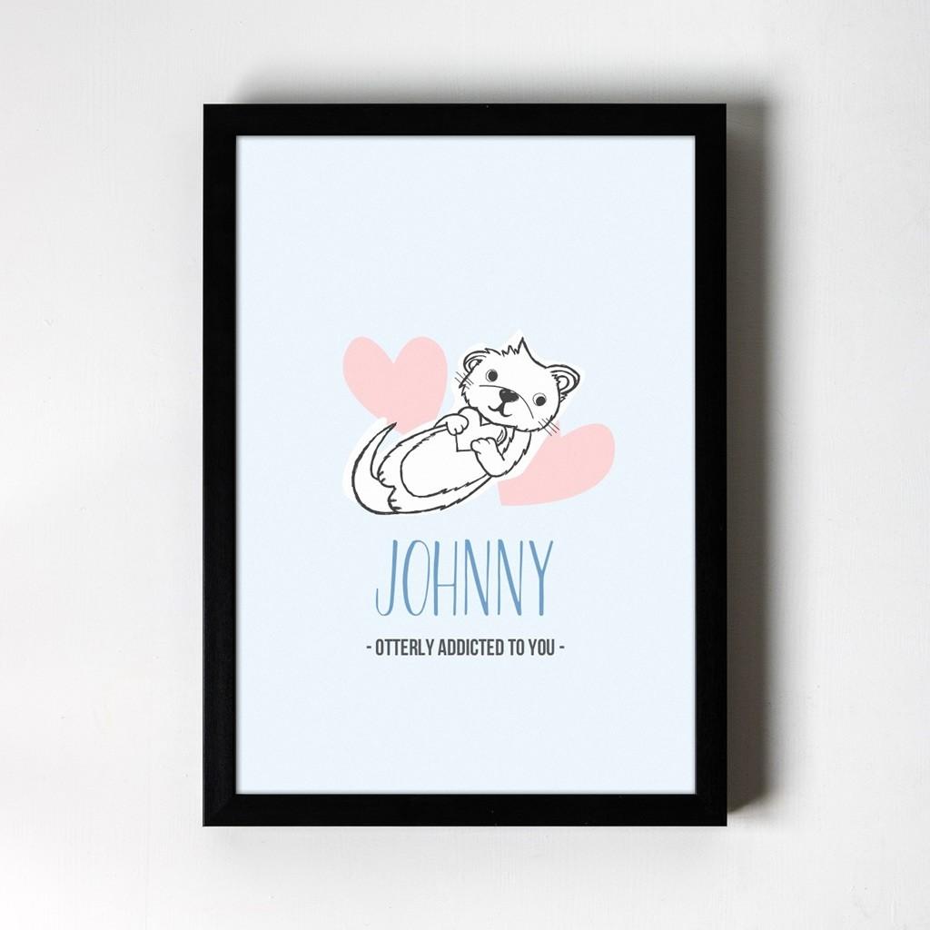 Otter - Personalised Art Print