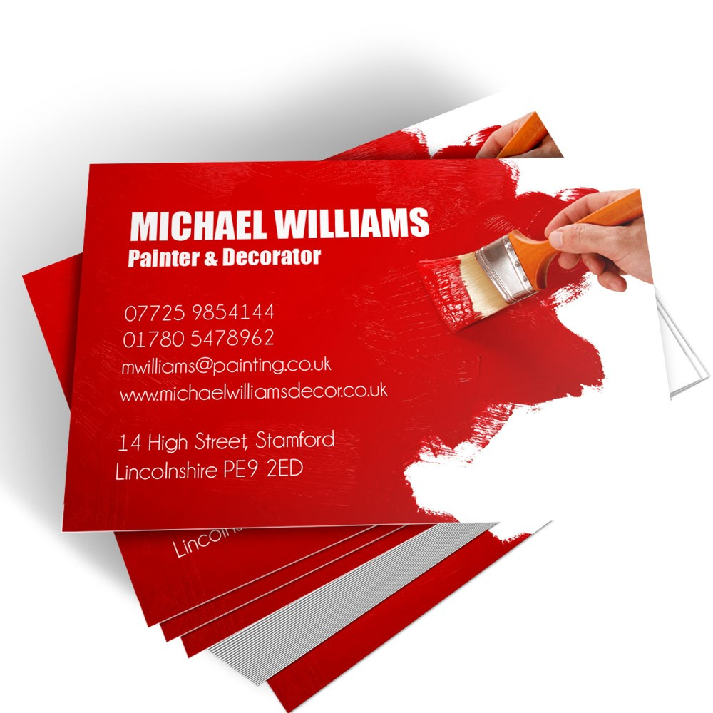 Templated Business Card Painter & Decorator 1