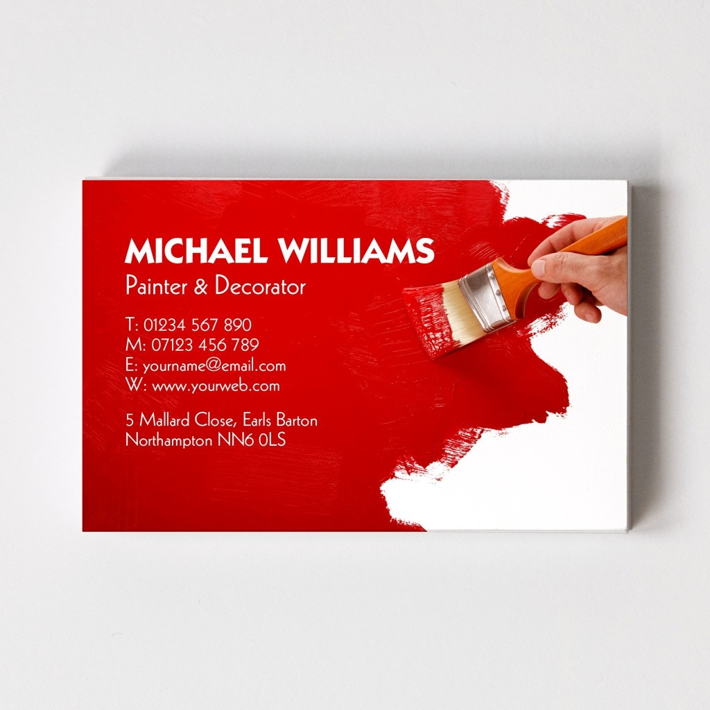 Painter & Decorator Templated Business Card 1 - Able Labels