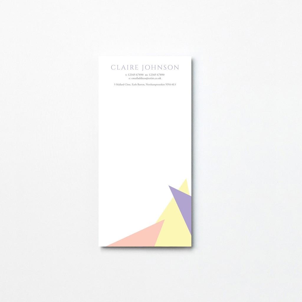 Pastel Tear Off Notepad