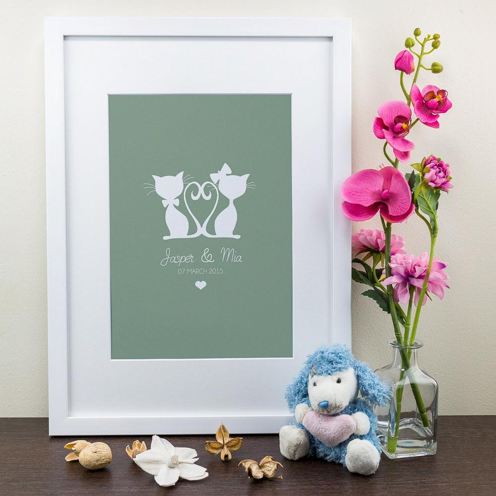 Cat Design - Personalised Art Print