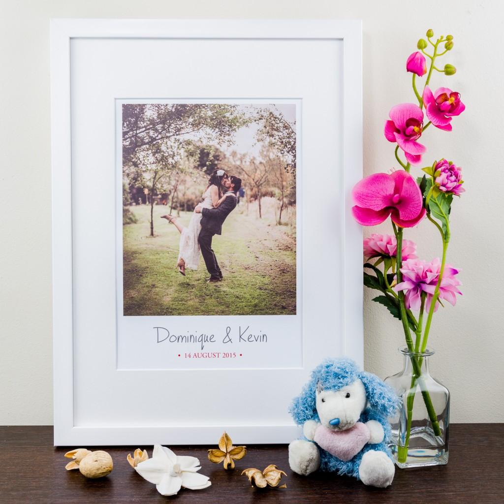 Large Photo Anniversary - Personalised Art Print