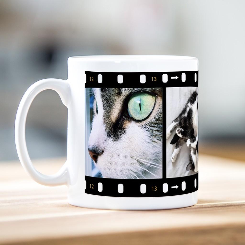 3 Photo Film Strip Mug